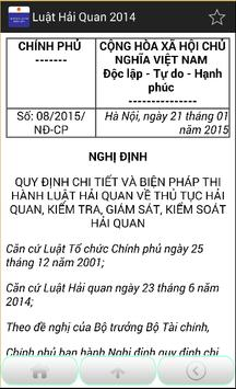 Luật Hải quan Việt Nam 2014 screenshot 5
