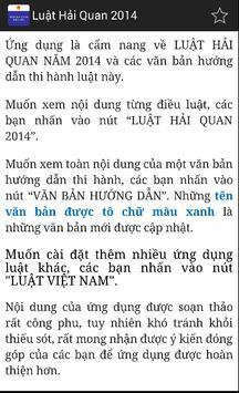 Luật Hải quan Việt Nam 2014 screenshot 1