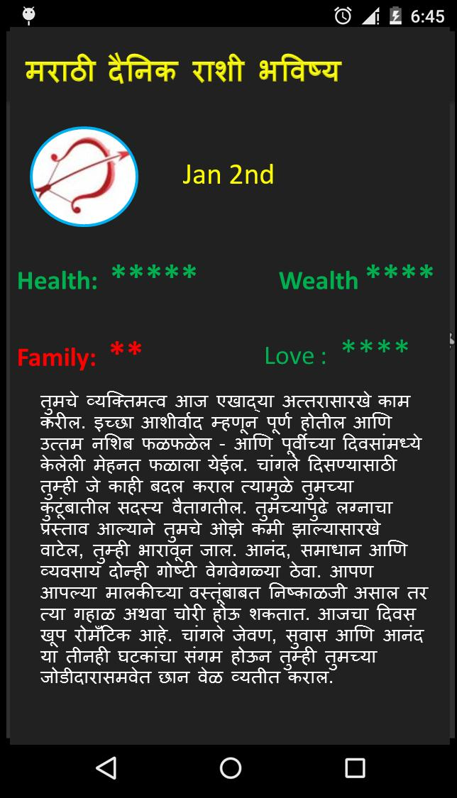 bhavishya by date of birth in marathi free