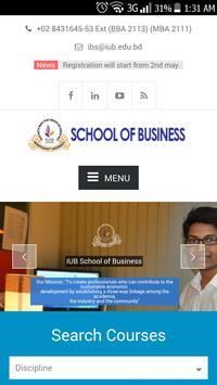 IUB School of Business poster