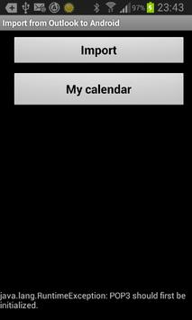 Calendar Outlook to Android poster