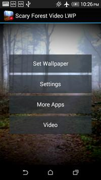 Scary Forest Video LWP apk screenshot
