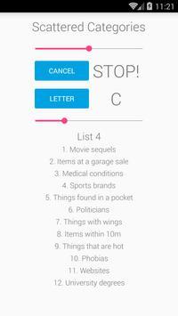 Scattered Categories screenshot 1