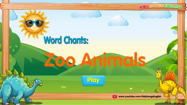Zoo Animals - Learning at Happy English School poster