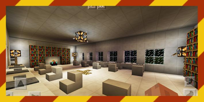 Nerd School. Map for MCPE poster