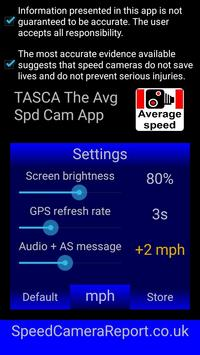 !TASCA Free average speed camera app poster