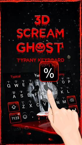 Scream Ghost Face 3D Theme&Emoji Keyboard for Android - APK