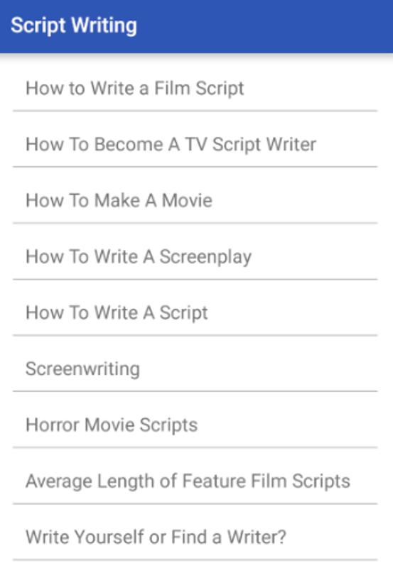 script writing for android apk download