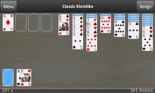 Classic Klondike Free apk screenshot