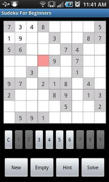 Sudoku For Beginners screenshot 3