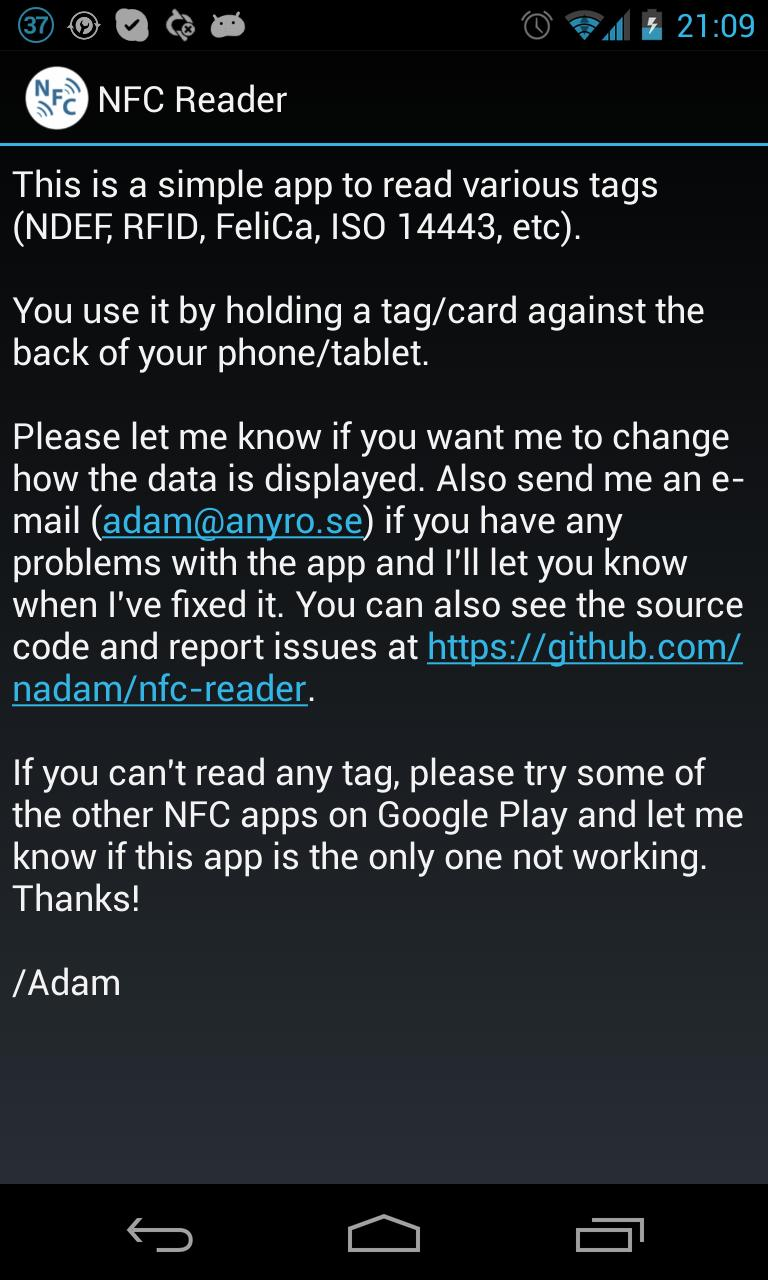 NFC Reader for Android - APK Download