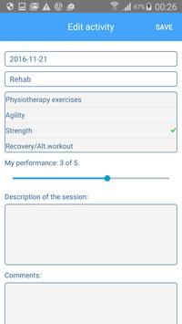 Min träning apk screenshot