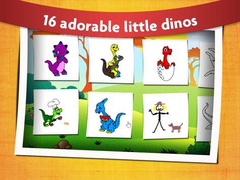 Kids Dinosaur Colouring Book Poster Apk Screenshot
