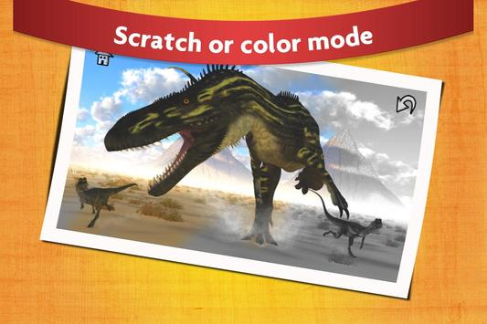 Dinosaur Scratch and Paint - Free Game for Kids apk screenshot
