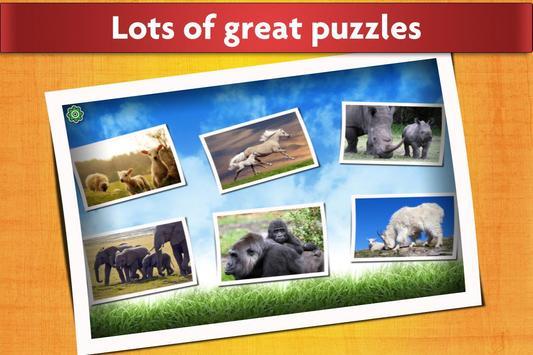 Animal Babies Jigsaw Puzzles Game - Kids & Adults apk screenshot