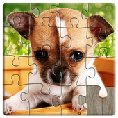 Dogs Jigsaw Puzzles Game - For Kids & Adults 🐶 icon