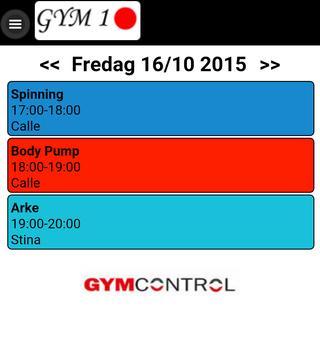 Gym Control Demo App apk screenshot