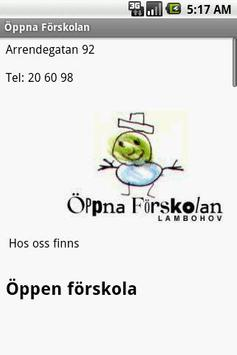 Öppna Förskolan poster