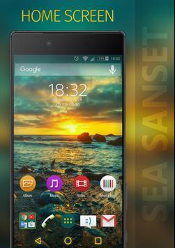SEA SUNSET Xperia Theme poster