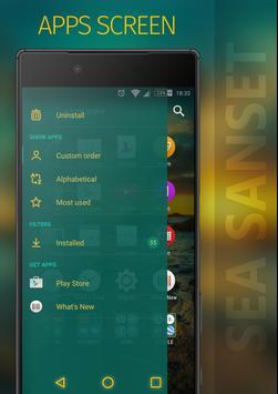 SEA SUNSET Xperia Theme apk screenshot