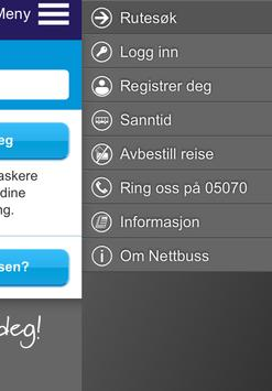 Nettbuss.no screenshot 2