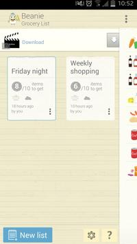 Beanie: Grocery List apk screenshot