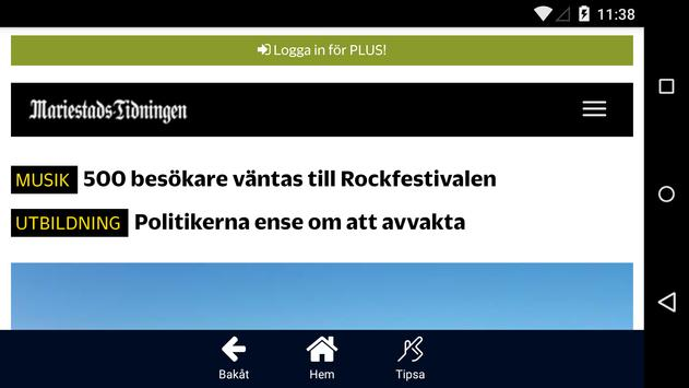 mariestadstidningen.se apk screenshot