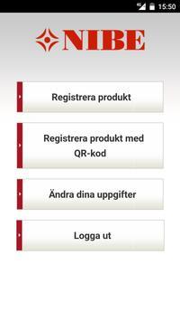 NIBE Produktregistrering apk screenshot