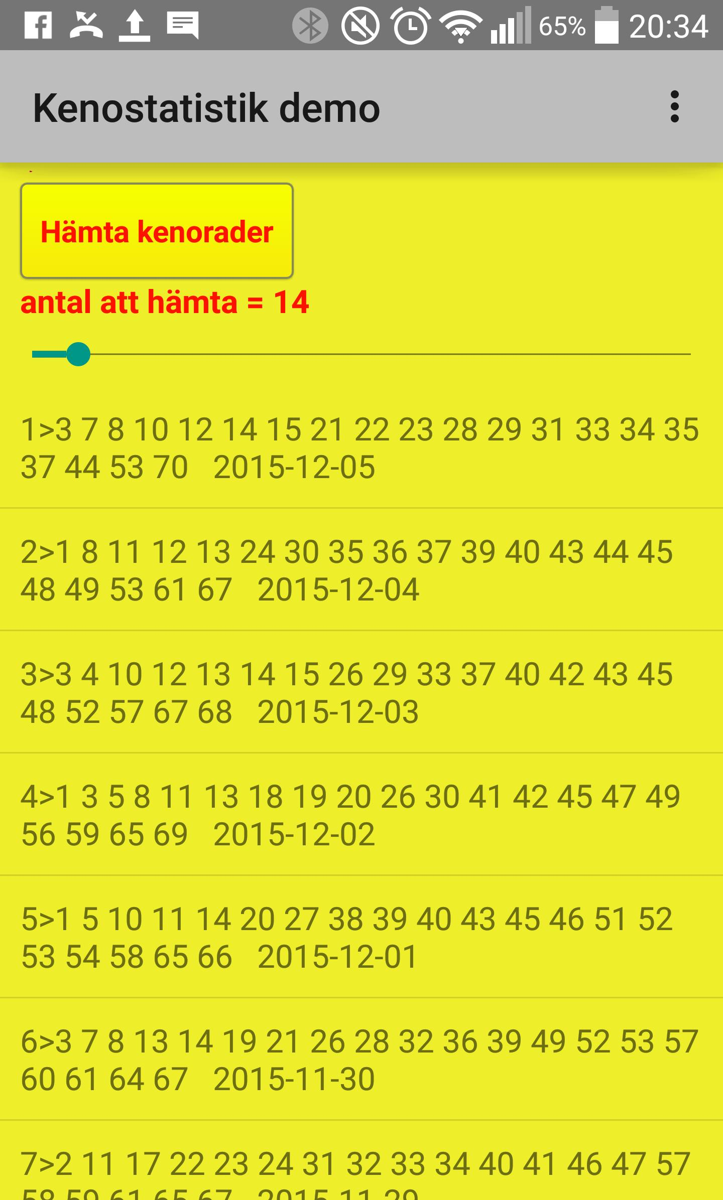 Keno Statistik Download