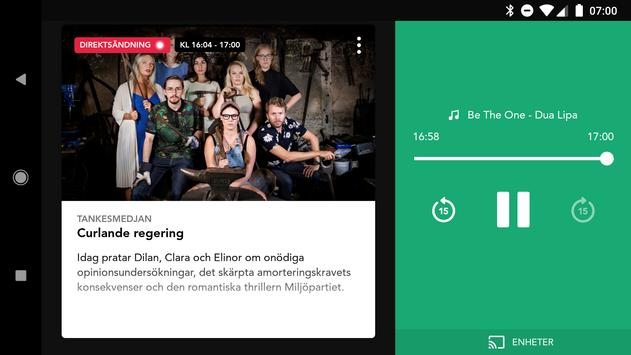 Sveriges Radio Play apk screenshot