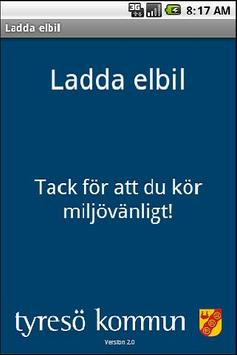 Tyresö kommun Ladda elbil poster