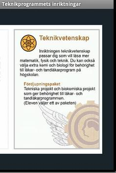 Teknikprogrammets inriktningar apk screenshot