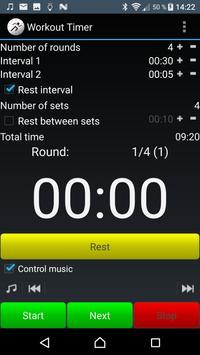 WorkoutTimer apk screenshot