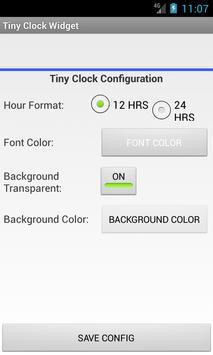 Tiny Clock Widget apk screenshot