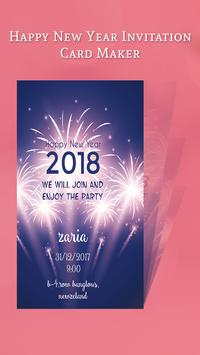 Happy New Year Invitation Card 67