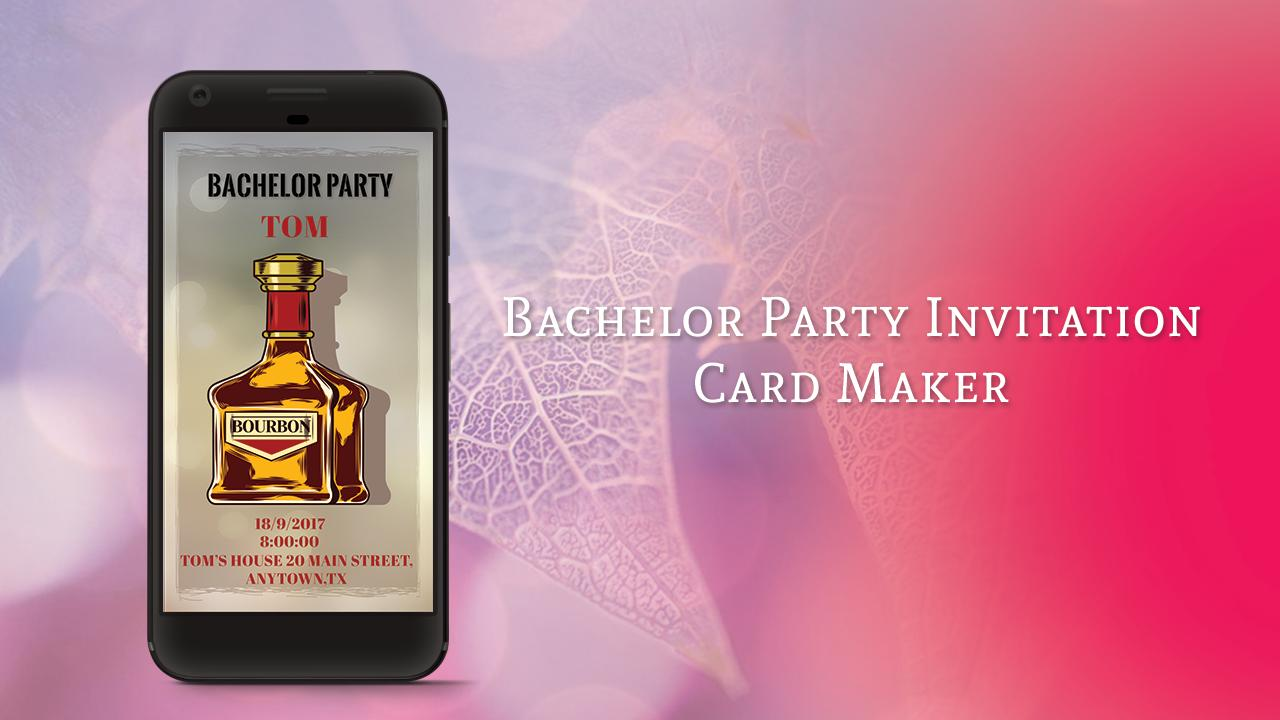 Bachelor Party Invitation Card Maker For Android Apk
