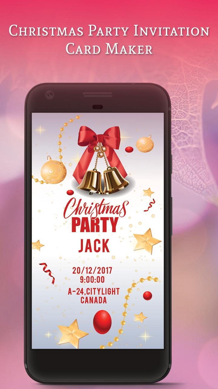 Christmas Party Invitation Card Maker For Android Apk Download