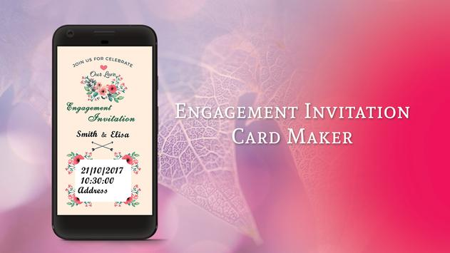 Engagement Invitation Card Maker poster