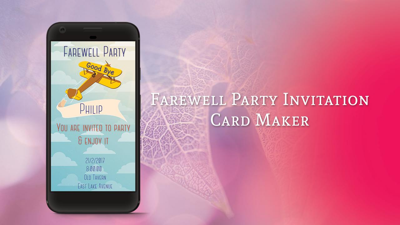 Farewell Party Invitation Card Maker For Android Apk