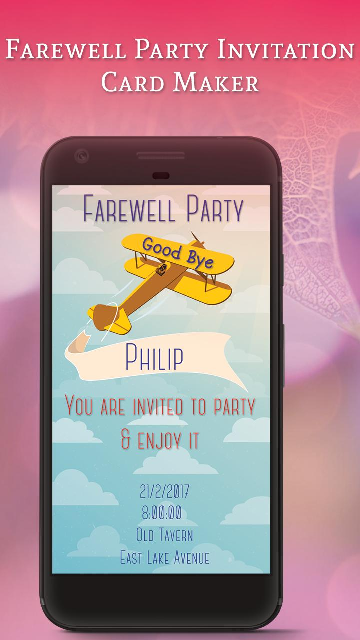 Farewell Party Invitation Card Maker For Android Apk Download