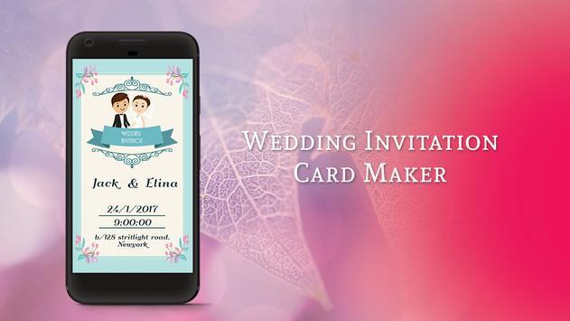 Wedding Invitation Card Maker poster