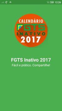 Calendário FGTS Inativo 2017 poster