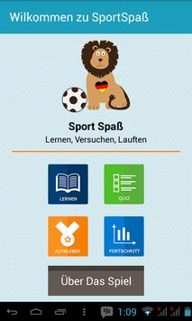 Learn German with SportSpas poster