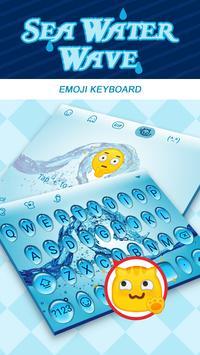 Sea Water Wave  Theme&Emoji Keyboard poster
