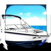 Boat in the Sea Live Wallpap icon