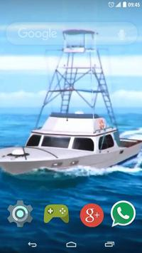 Boat in the Sea Live Wallpap apk screenshot