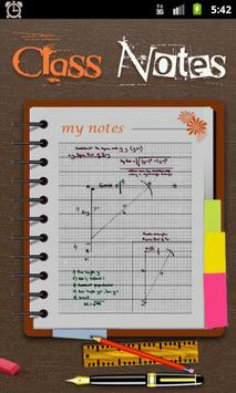 Class Notes poster