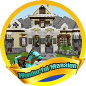 New Wonderful Mansion. Map for MCPE icon