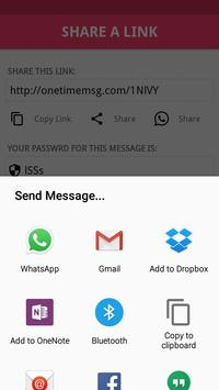 One Time Secret Message apk screenshot