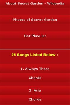 All Songs of Secret Garden screenshot 2